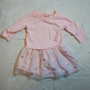 Carter's   Tutu Jersey Dress w/ Sparkle Hearts